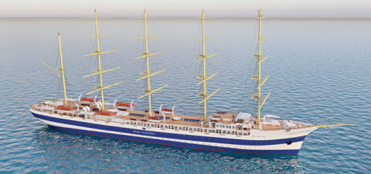 Modell des Star Clipper Neubaus. Foto: Star Clippers