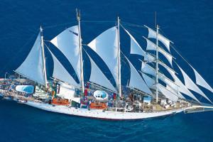 Star Flyer auf Segelkreuzfahrt. Foto: Star Clippers
