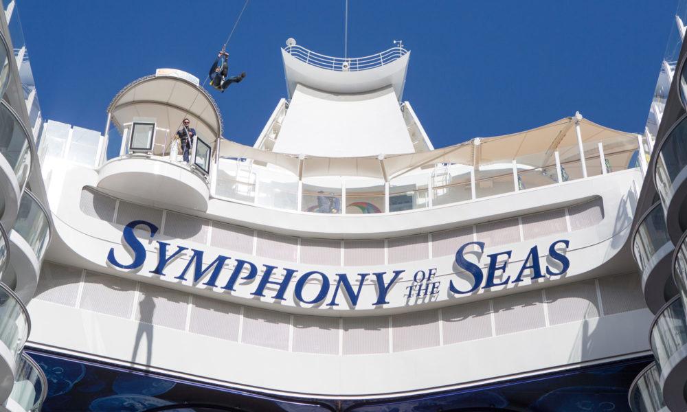 Zip Line der Symphony of the Seas. Foto: Royal Caribbean International