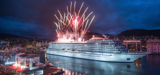 Schiffstaufe der Viking Star in Bergen. Foto: Viking Ocean Cruises