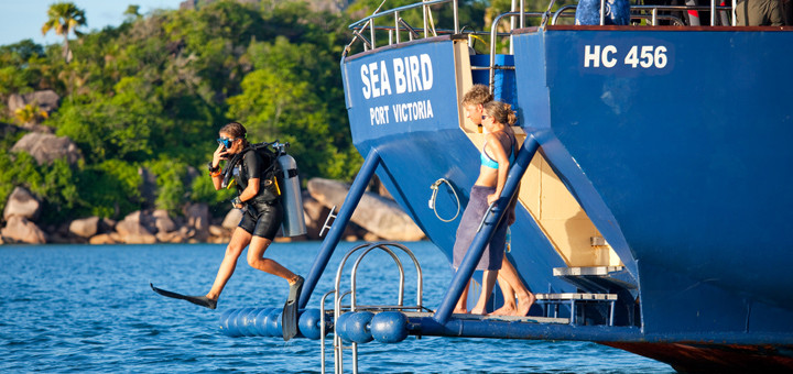 Work and Travel bei Silhouette Cruises im Paradies auf den Seychellen. Foto: Silhouette Cruises