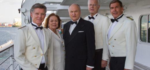 Das Traumschiff mit Nick Wilder, Heide Keller, Dietrich Mattausch, Harald Schmidt und Sascha Hehn. Foto: Dirk Bartling / ZDF